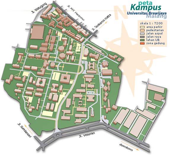 Peta Kampus Universitas Brawijaya Malang